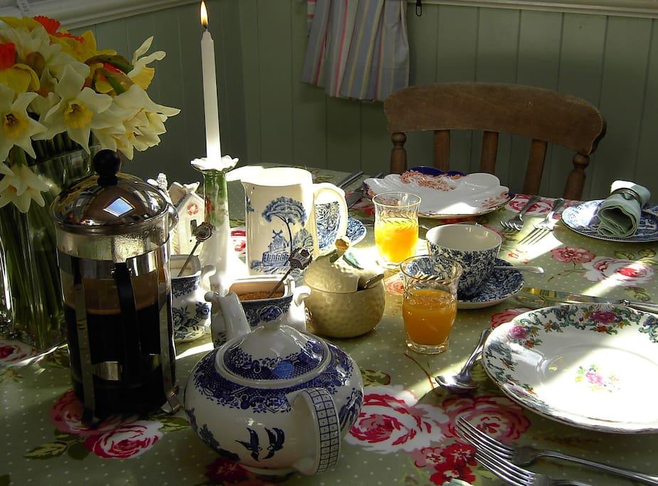 Breakfast in the Garden Room...