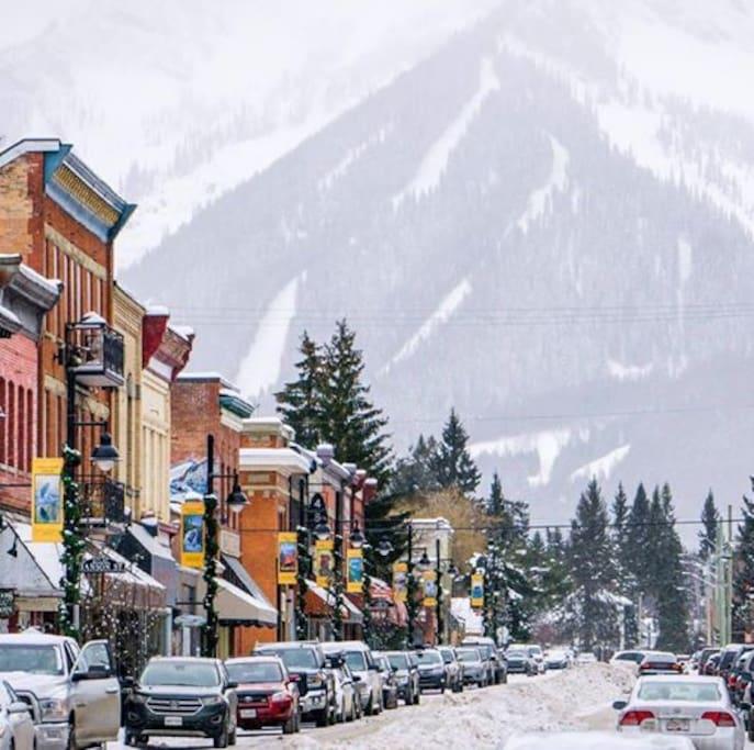 Downtown Fernie with Fernie Ski Resort