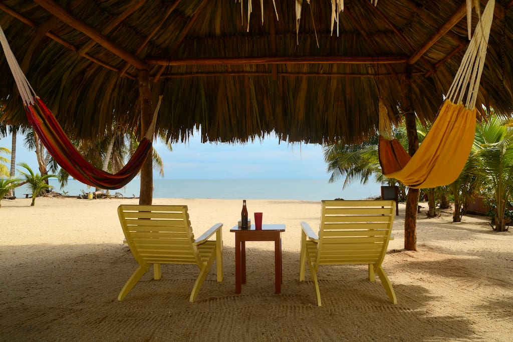 Palapa chairs and Hammocks Try Both