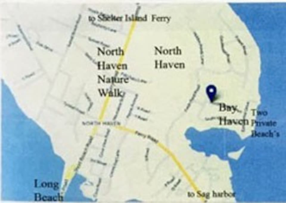 Location of the house in North Haven (Bay Haven)