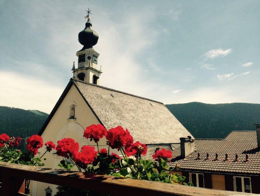 Balcone e vista su Piazza S. Lorenzo
