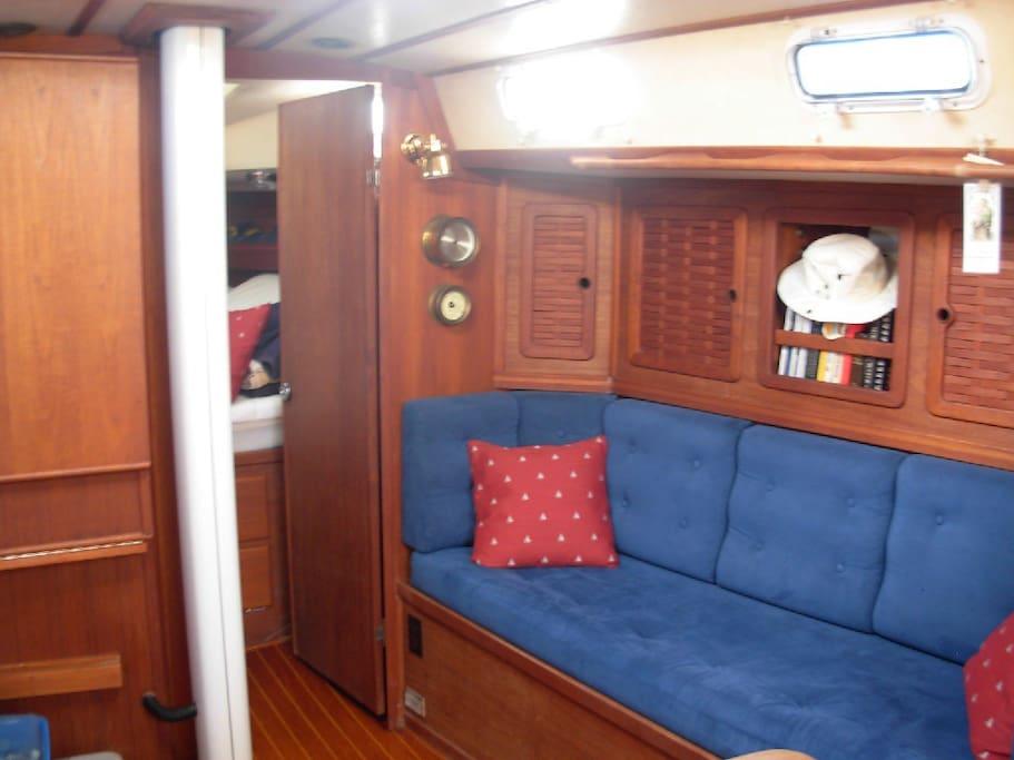 Starboard side, saloon.