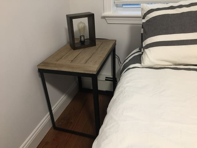 Nightstand with a lamp