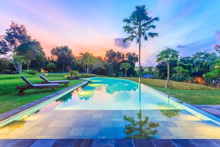 2 bedroom rice terrace view private villa w/ pool
