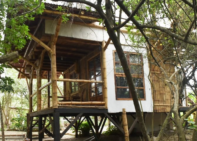 "Casa Yubarta's  ""Bamboo House"" at the Beach"