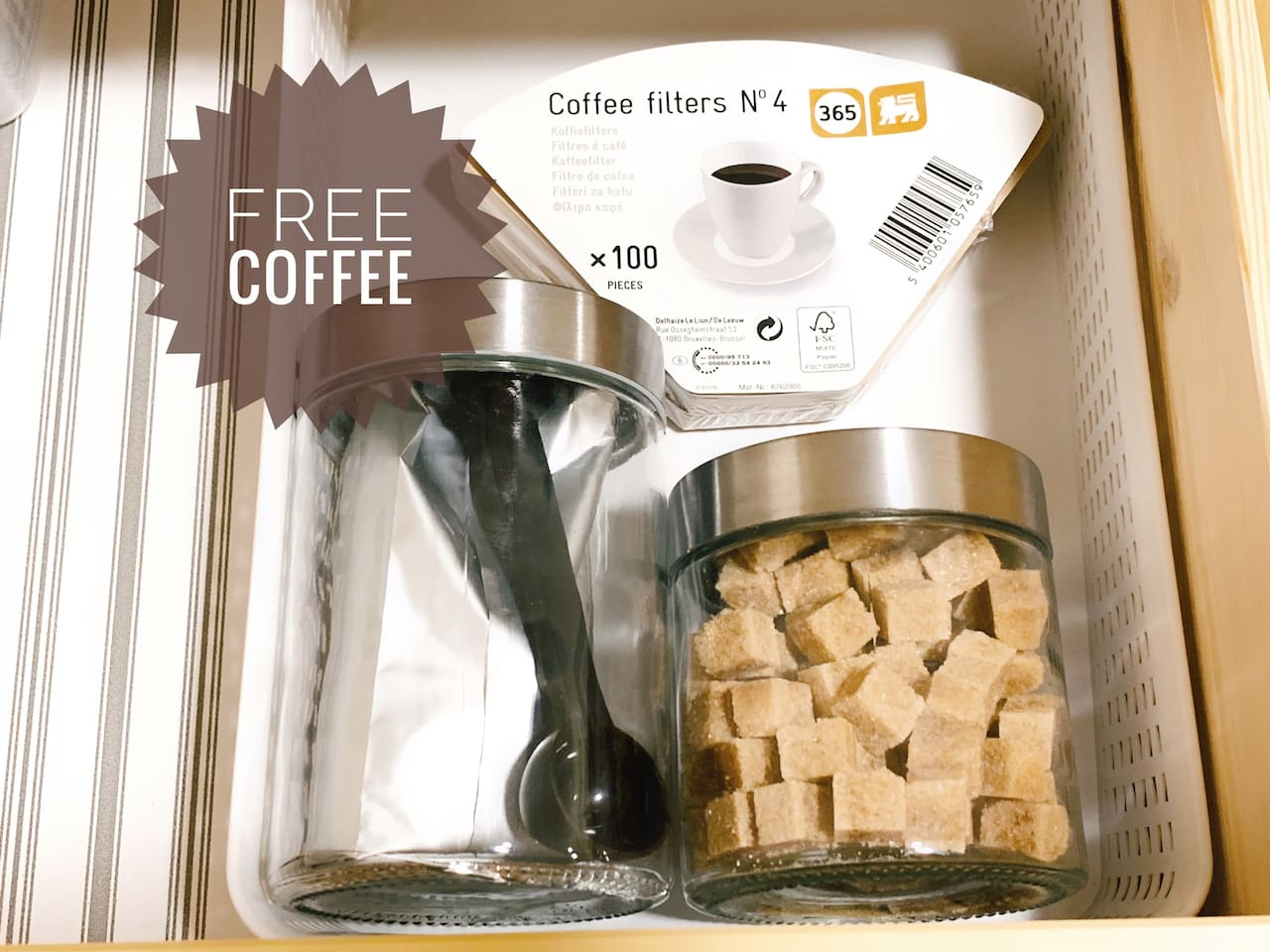 enjoy your coffee time for free