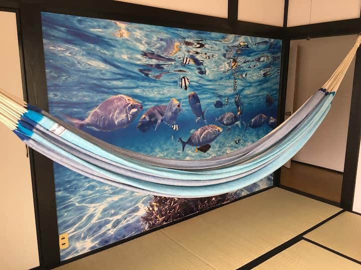 【和田浦海水浴場30秒】無料駐車場 | BBQ | JR和田浦5分!3名部屋 | オアシス和田浦E