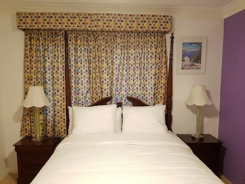 Golden Palm B & B Queen Room with Shared Bathroom