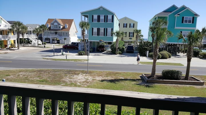 Oceanview condo, steps to the beach with pool!