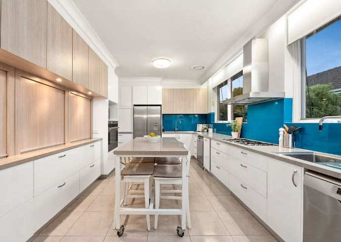 There is a huge double kitchen shared with other flatmates