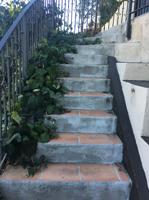 Steps up to The Enclave.