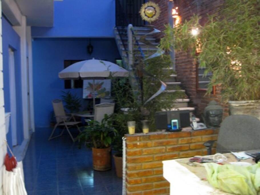 Open-air interior patio