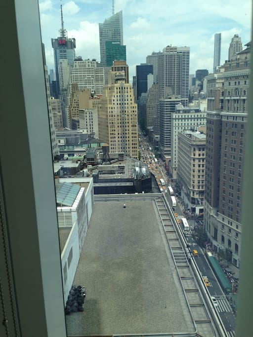 View of 6th Ave from bedroom