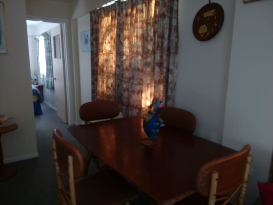 Table and chairs in dinning space