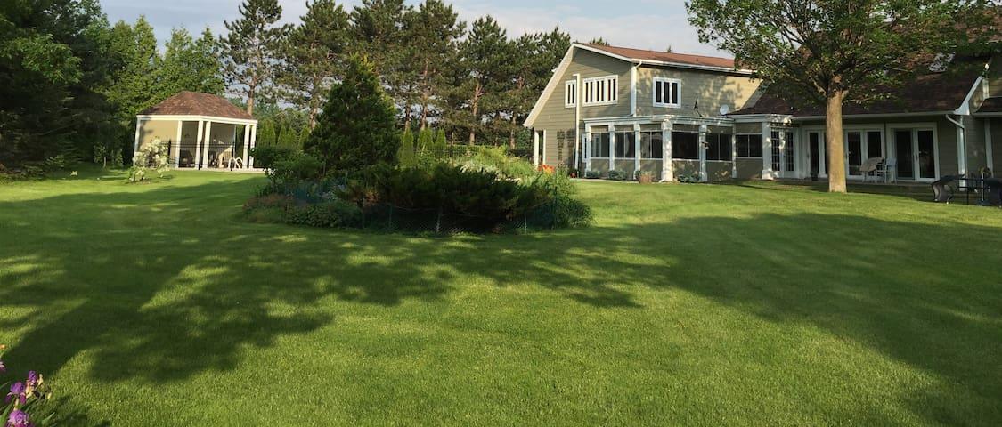 Oasis, verdure, beauté et sérénité - Saint-Pie - Loft