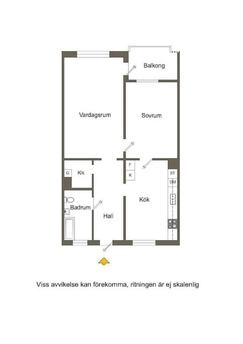 Ritning över lägenheten