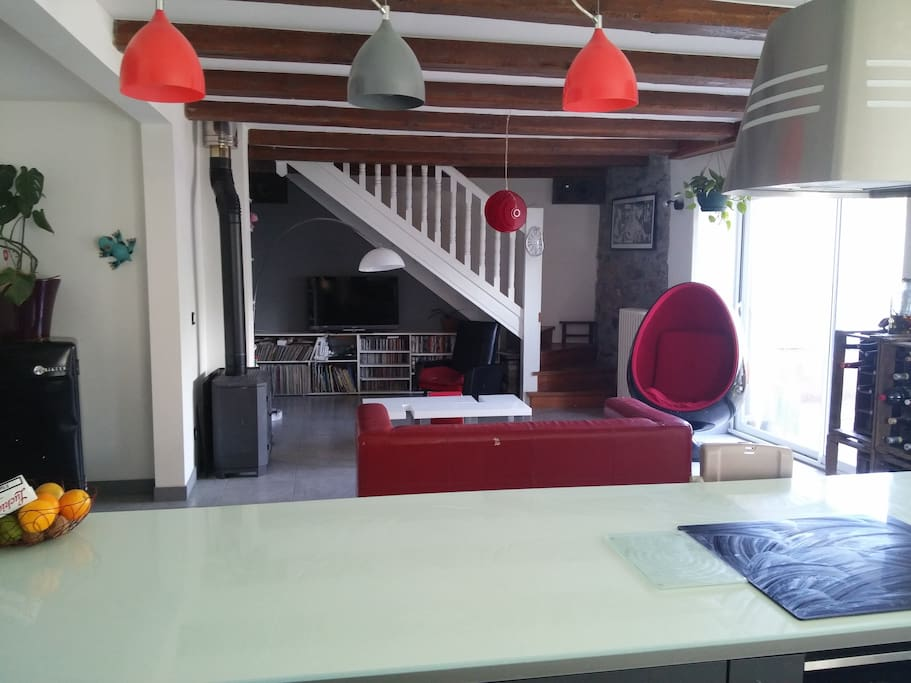 Le salon/cuisine