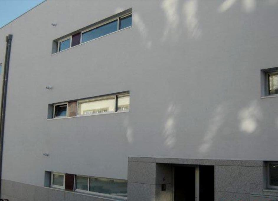 north facade of the apartment, kitchen window