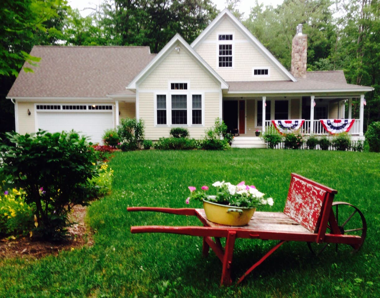 Country home on 20+ acres of wooded land.