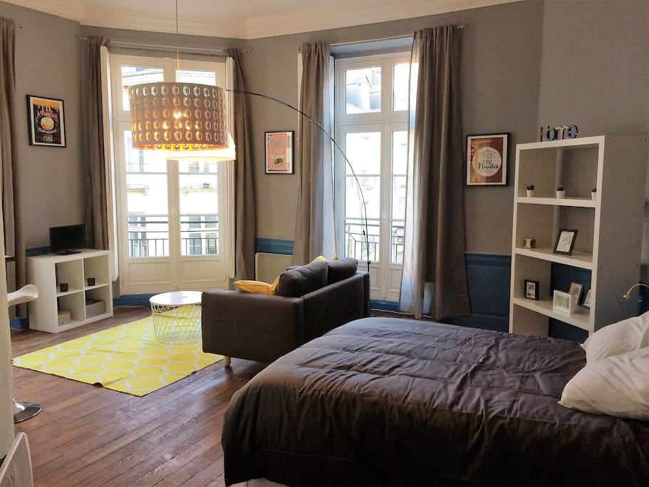 magnifique studio 38m vue place graslin wohnungen zur miete in nantes pays de la loire. Black Bedroom Furniture Sets. Home Design Ideas