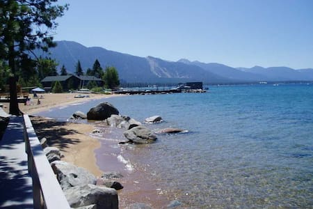 Walk to Lake Tahoe from Cabin RH09 - Zephyr Cove-Round Hill Village