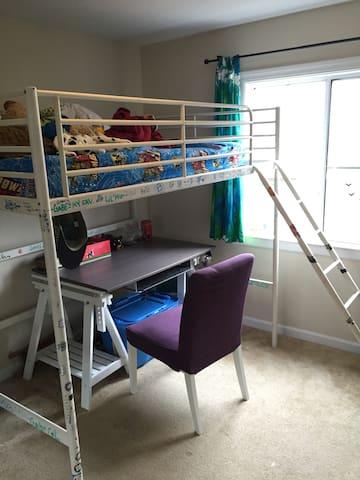 Bedroom 2. Bedroom 3 is baby's room w/crib.
