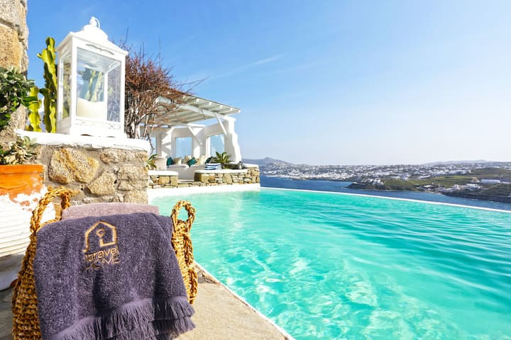 Villa Narciso in Ornos Mykonos/ 5Bed-Pool-Sea view