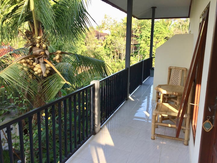 Danu Guest House—Room & Balcony in Artist's Garden