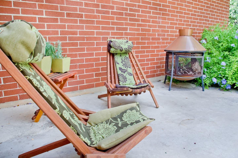 Back patio - back yard is fenced