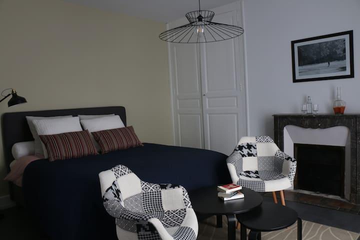 Grande chambre dans une belle maison centre ville - Vendôme - Hus