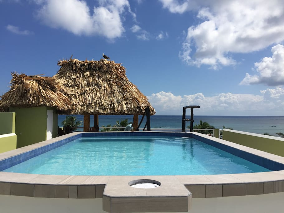 Enjoy your day in the rooftop pool and have an amazing view of the turquoise waters