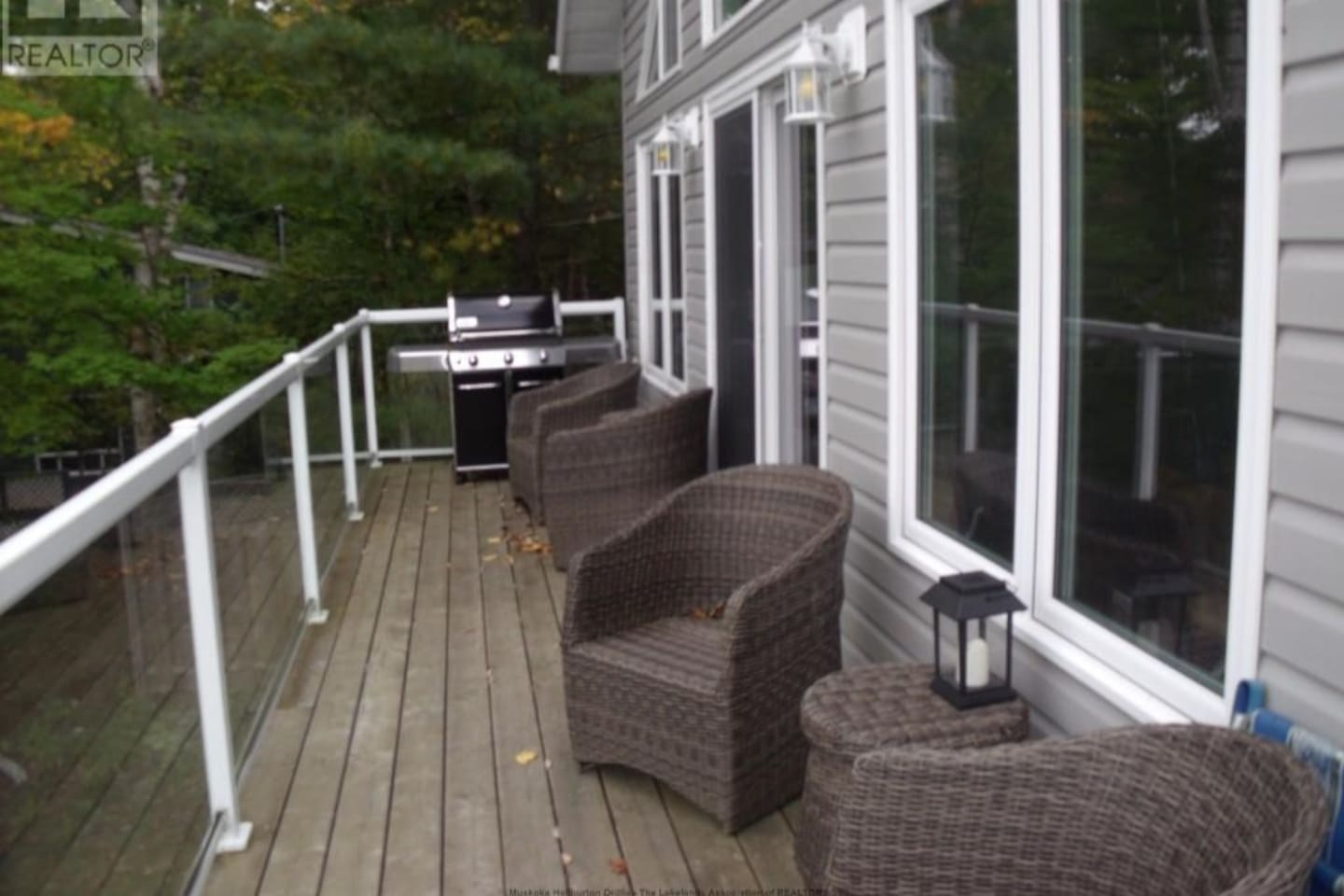Top level walk-out deck for relaxing with lake views