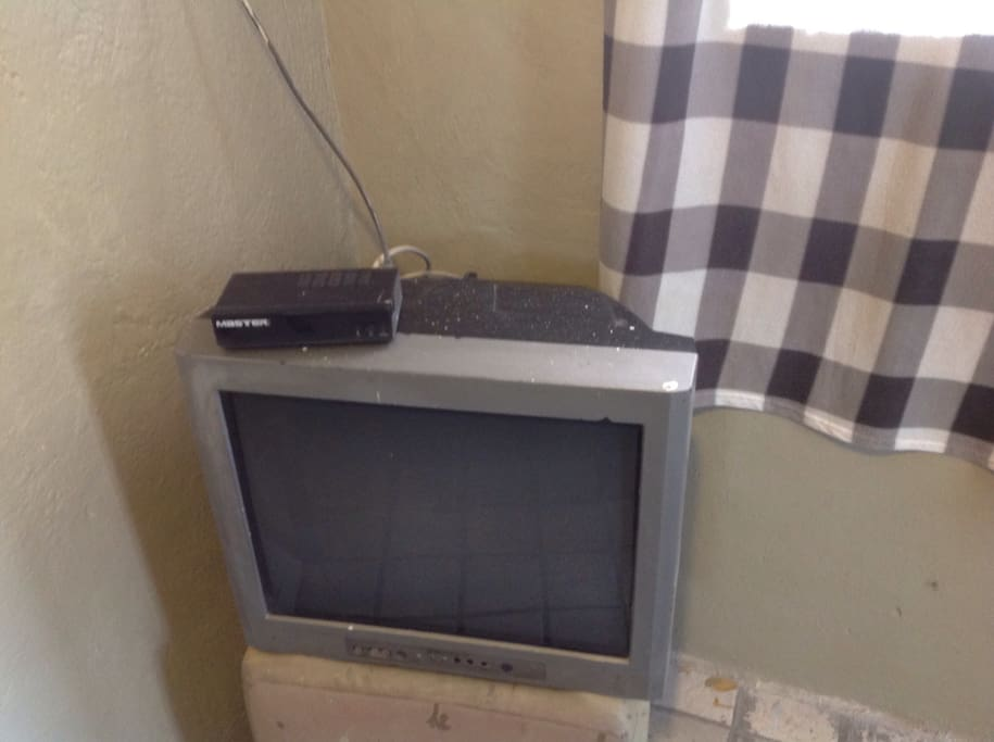 A tv with open channels .