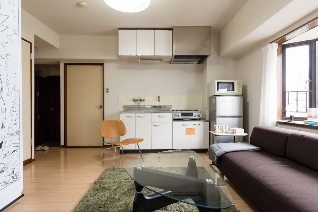 Spacious, Relax Living room :) All of you can take a rest. 広々としたリビングダイニングでゆっくりとくつろげます。