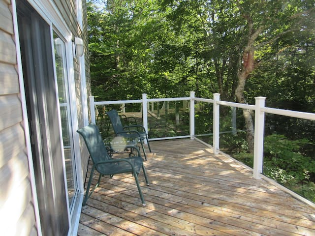 Private Deck and electric barbeque provided