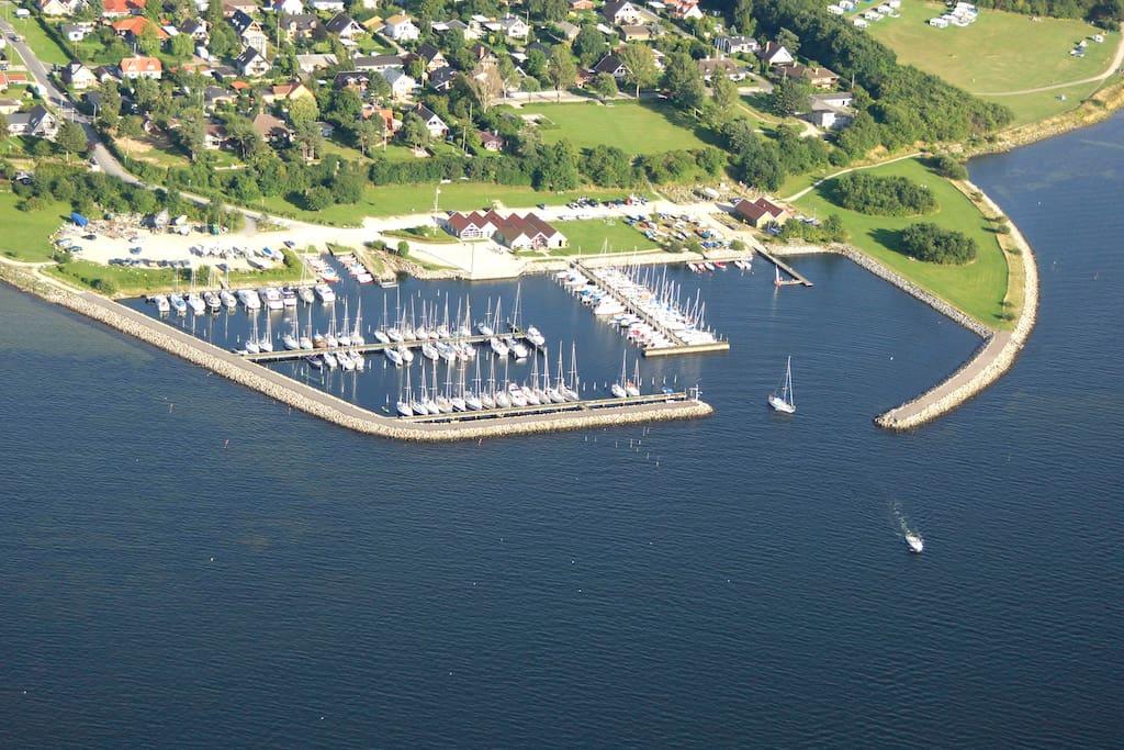 Veddelev Harbor (5min walk from house)