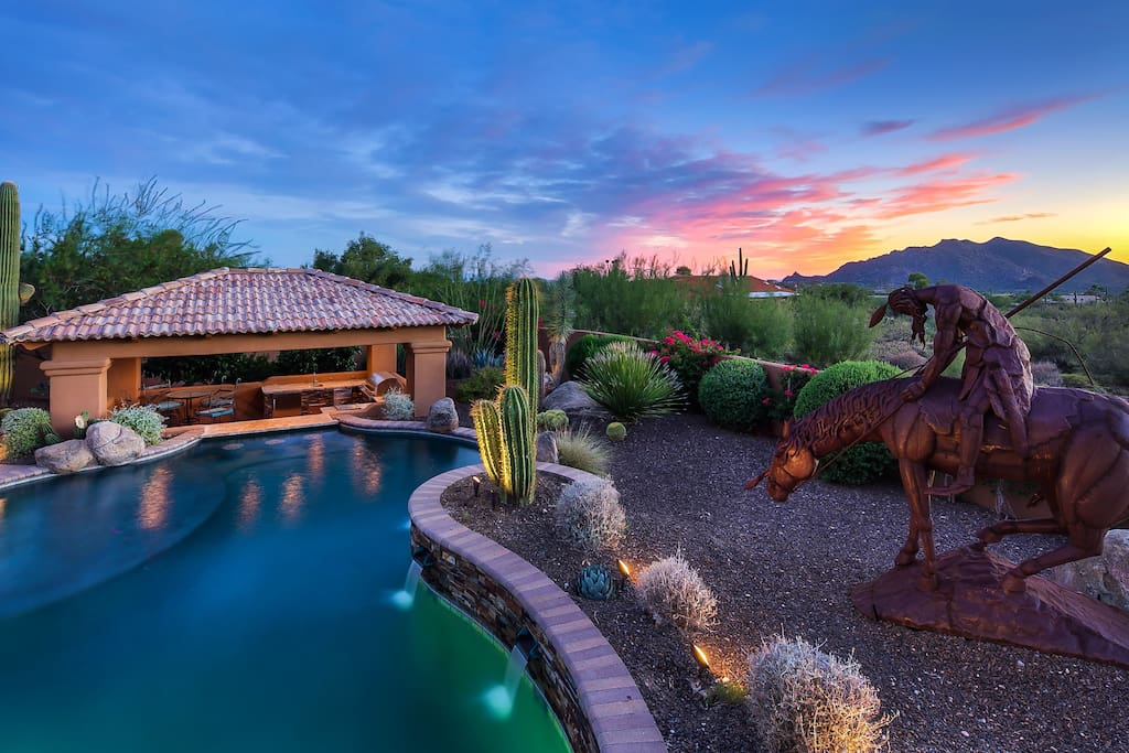 Immerse yourself in true luxury Arizona getaway!  Private pool with large spa!