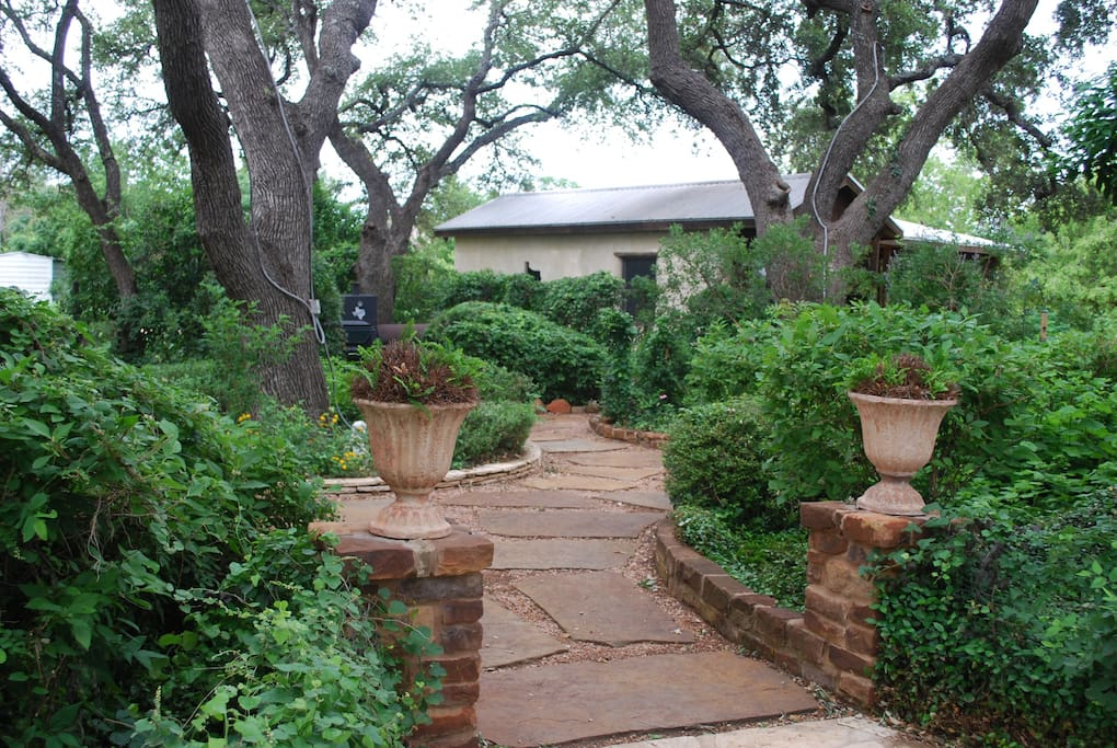 Courtyard among the 200 year old oaks.