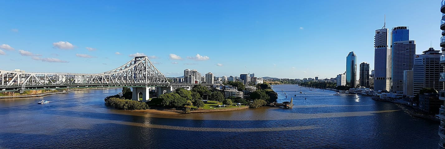 2 brm river view apartment - pool, gym, spa, sauna - Brisbane City - Leilighet