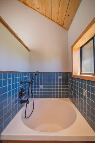 Japanese Soaking Tub in Master