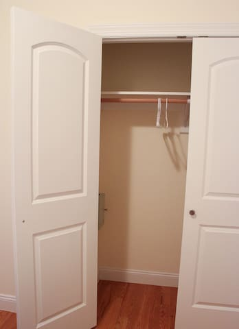 Lots of closet space