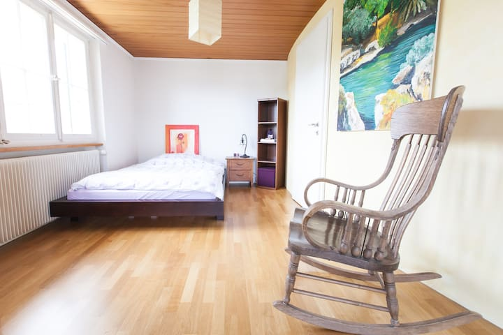 bright, large double Room between Bern and Biel - Lyss - Rumah