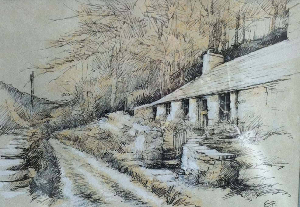 The cottage - one of a series by distinguished natural history artist, Elaine Franks.