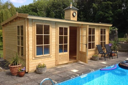 En-suite pool house with breakfast - Talybont-on-Usk - Pousada
