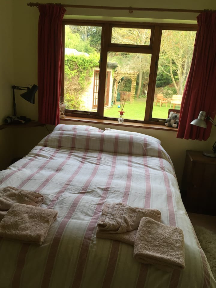 Double bed in historic Highworth