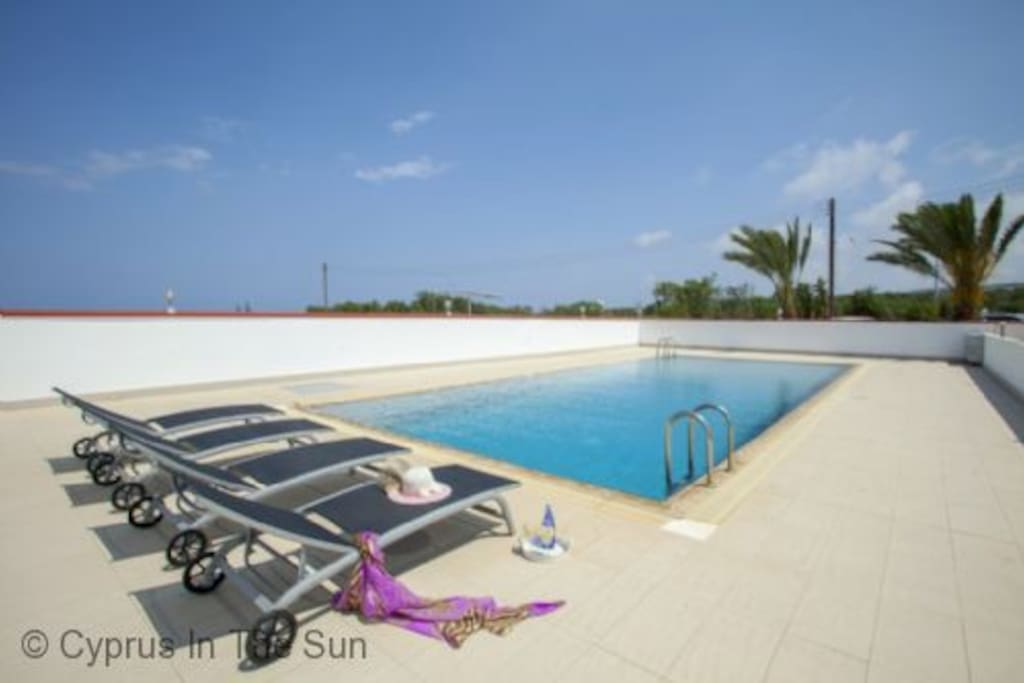 The view of the private swimming pool area