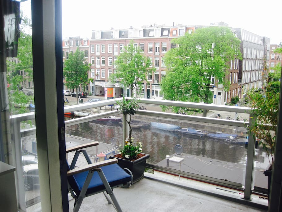 Canal view balcony
