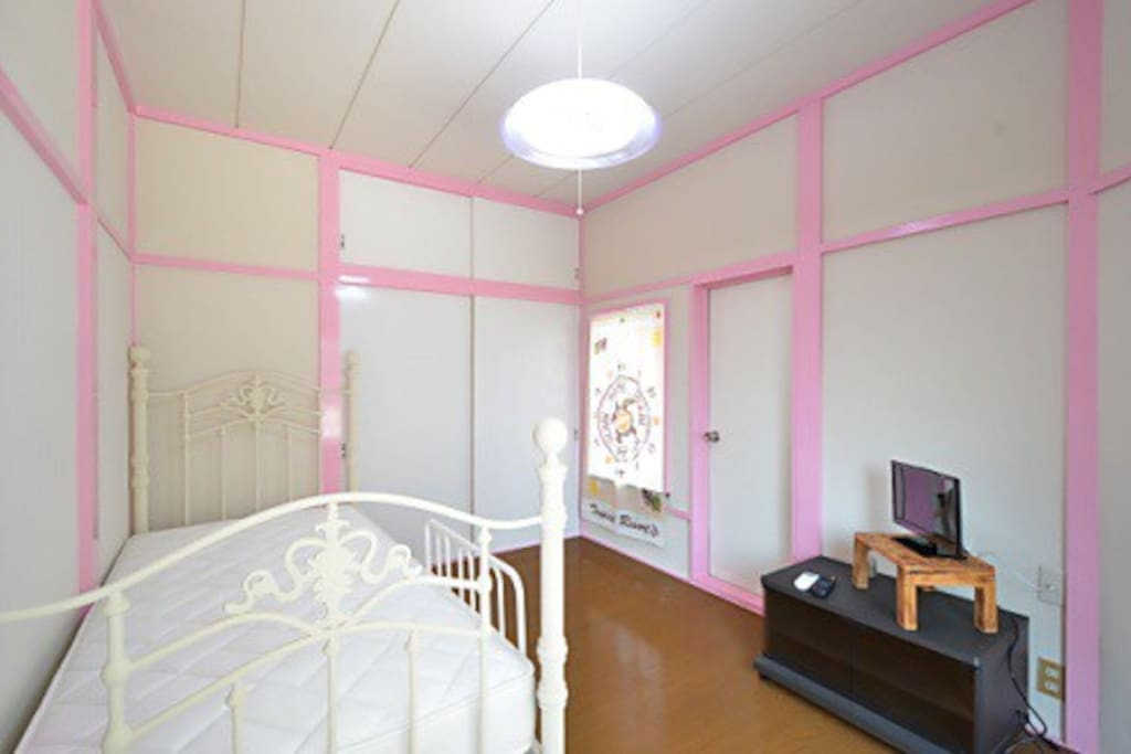 A bedroom on the second floor
