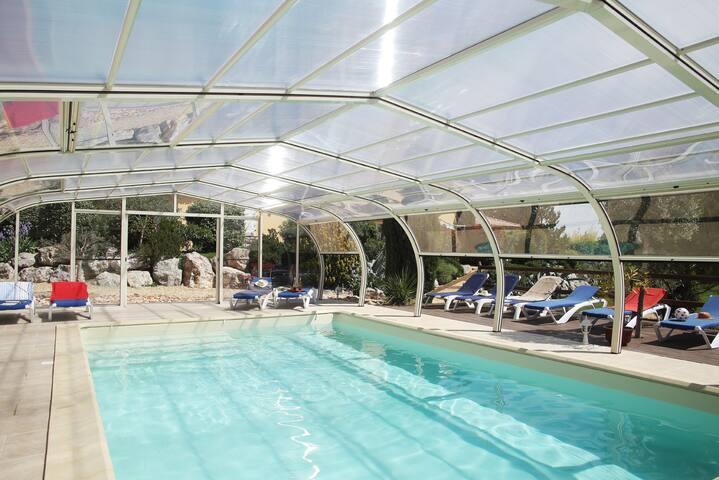 Anduze Logt 4 p- piscine couverte