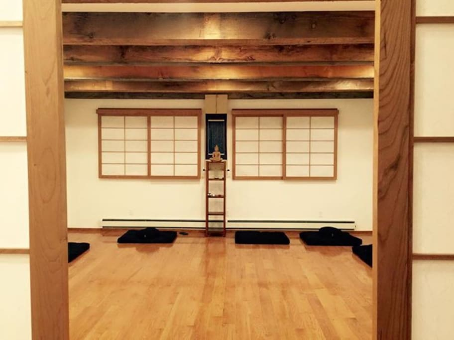 The room is above this zendo.